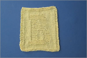 Chronicle #16: Knitted Letter Washcloth