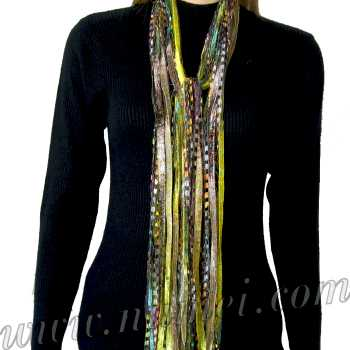Specials: 'Ai' Ribbon Yarn Scarf: AI-2100