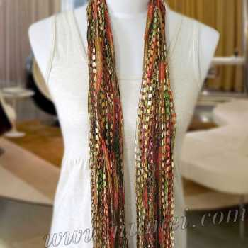 Specials: 'Ai' Ribbon Yarn Scarf: AI-2101