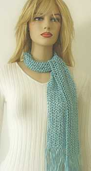 Handmade Scarf: Light Turquoise Scarf