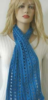 Handmade Scarf: Medium Blue Scarf