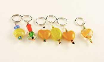 Handmade Stitch Markers - Citrus