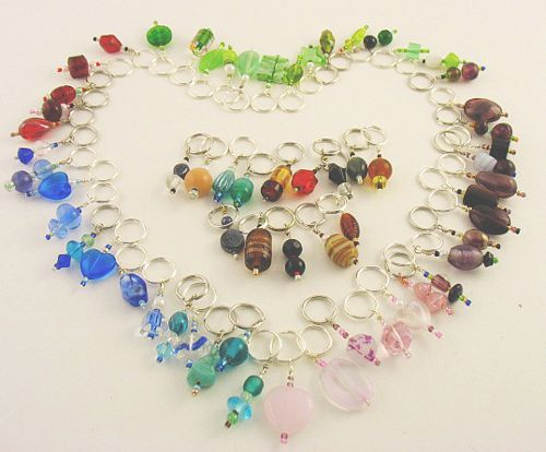 Handmade Stitch Markers - Assorted Colors