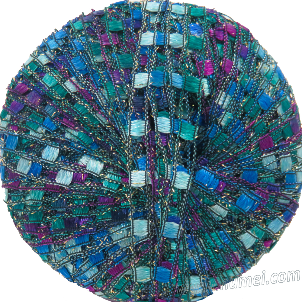 Berlini Ladder Ribbon Glitter 129 Peacock