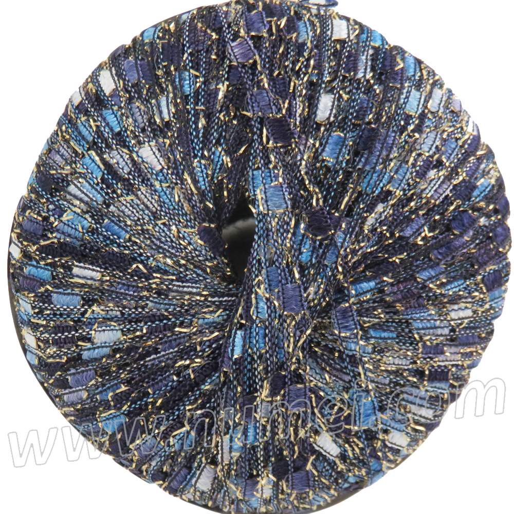 Ladder Ribbon Glitter 65 Blue Amethyst