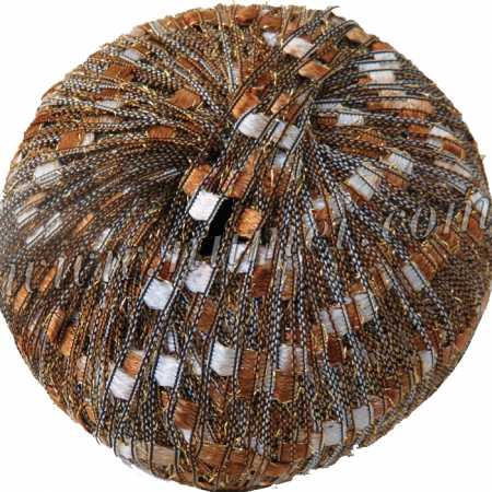Berlini Ladder Ribbon Glitter 125 Copper Brown