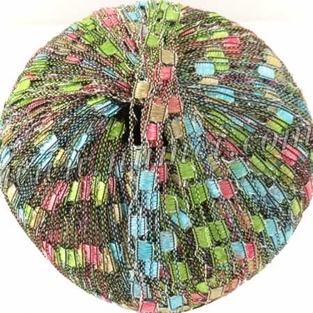 Berlini Ladder Ribbon Glitter 128 Touch of Spring - 50g Ball