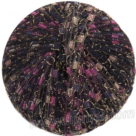 Berlini Ladder Ribbon Glitter 134 Black Plum