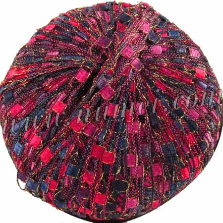 Berlini Ladder Ribbon Glitter 138 Wine Berries - 50g Ball