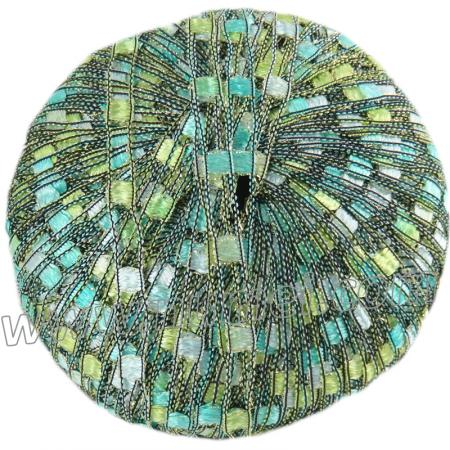 Berlini Ladder Ribbon Glitter 69 New Jade - 50g Ball