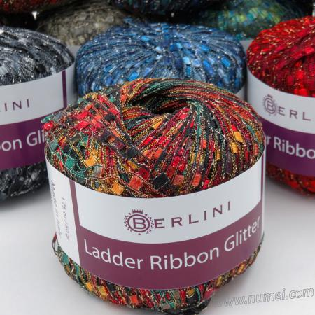 Berlini Ladder Ribbon Glitter Ladder Yarn