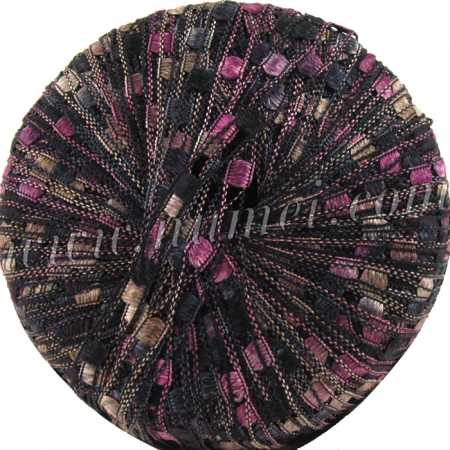 Berlini Ladder Ribbon 134 Black Plum - 50g Ball