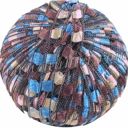Berlini Ladder Ribbon Maxi 130 Blue Chocolate - 50g Ball