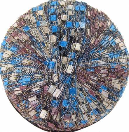 Berlini Ladder Ribbon Glitter 130 Blue Chocolate - 50g Ball