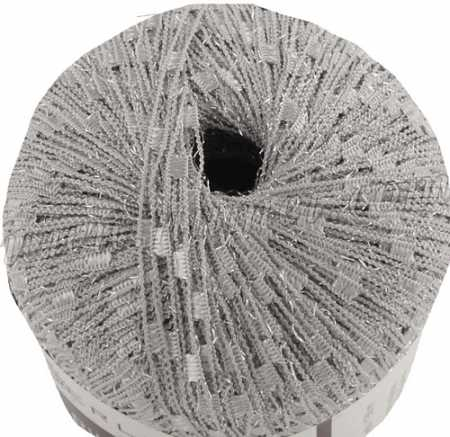 Berlini Ladder Ribbon Glitter 90 Silver - 50g Ball