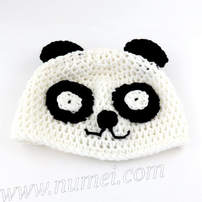 Crochet Pattern Panda Baby Hat