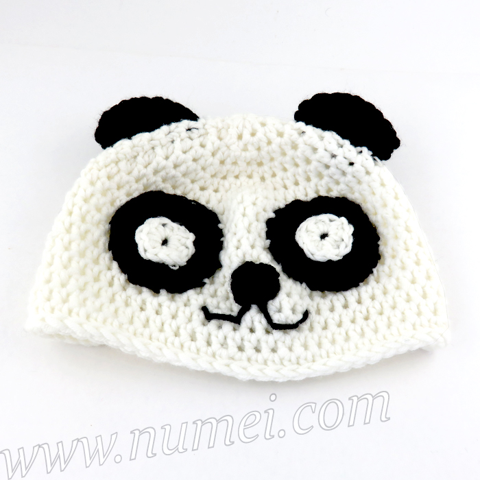 Free Crochet Baby Panda Hat Pattern : Crochet Pattern: Panda Baby Hat