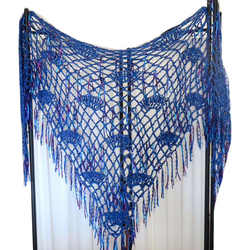 Crochet Pattern Fanfare Triangle Shawl