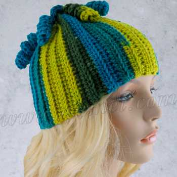Crochet Pattern: Leslie Hat With Curly Tassels