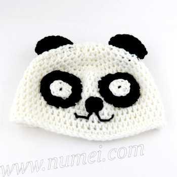 Crochet Pattern: Panda Baby Hat
