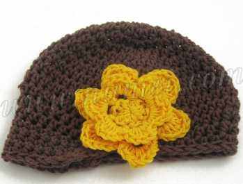 Crochet Pattern: Carlotta Newsboy Baby Hat/Option with Flower
