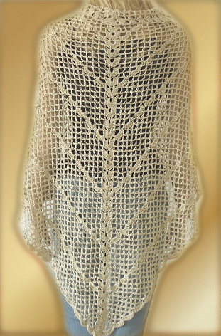 Crochet Pattern Romantic Lace Shawl