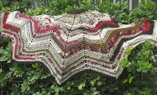 Crochet Pattern Semi Circular Ripple Shawlette