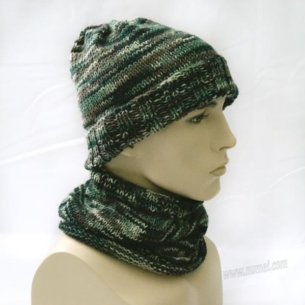 Knitting Pattern: Cold Weather Hiking and Camping Hat and Neck Gaiter Set