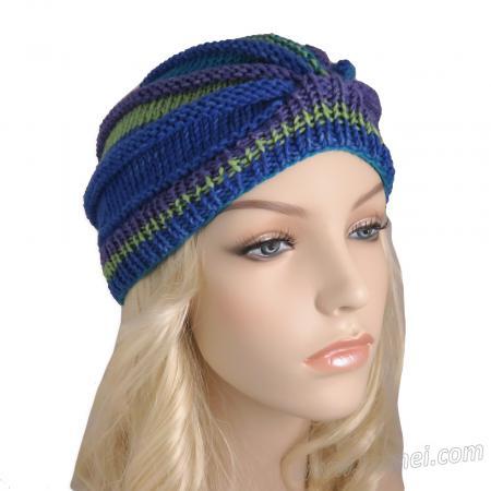 Knitting Pattern: Ribbed Wedge Turban (DK Yarn)