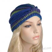 Knitting Pattern: Ribbed Wedge Turban (DK Yarn)