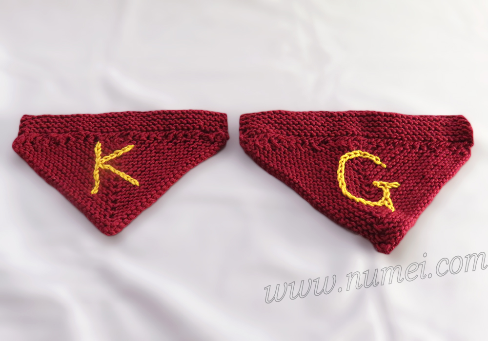 Knitting Patterns For Dog Bandanas : Knitting Pattern: Dog Bandana