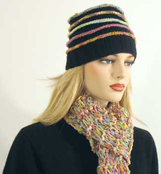 Knitting Pattern: Vail Raised Ridge Hat and Scarf Set
