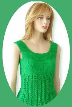 Knitting Pattern: Rachel Tank Top