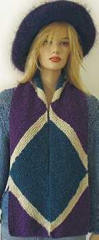 Knitting Pattern Diagonal Triangle Striped Scarf