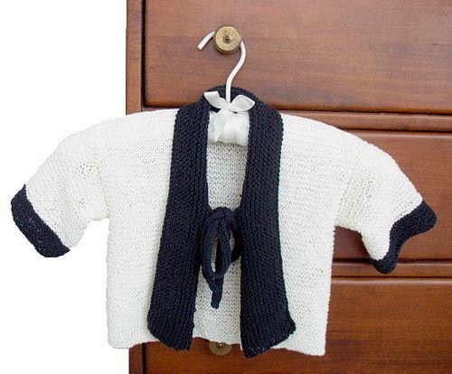 Knitting Pattern Cute Baby Kimono