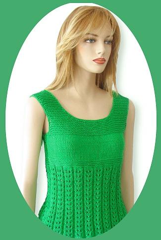 Knitting Pattern Rachel Tank Top
