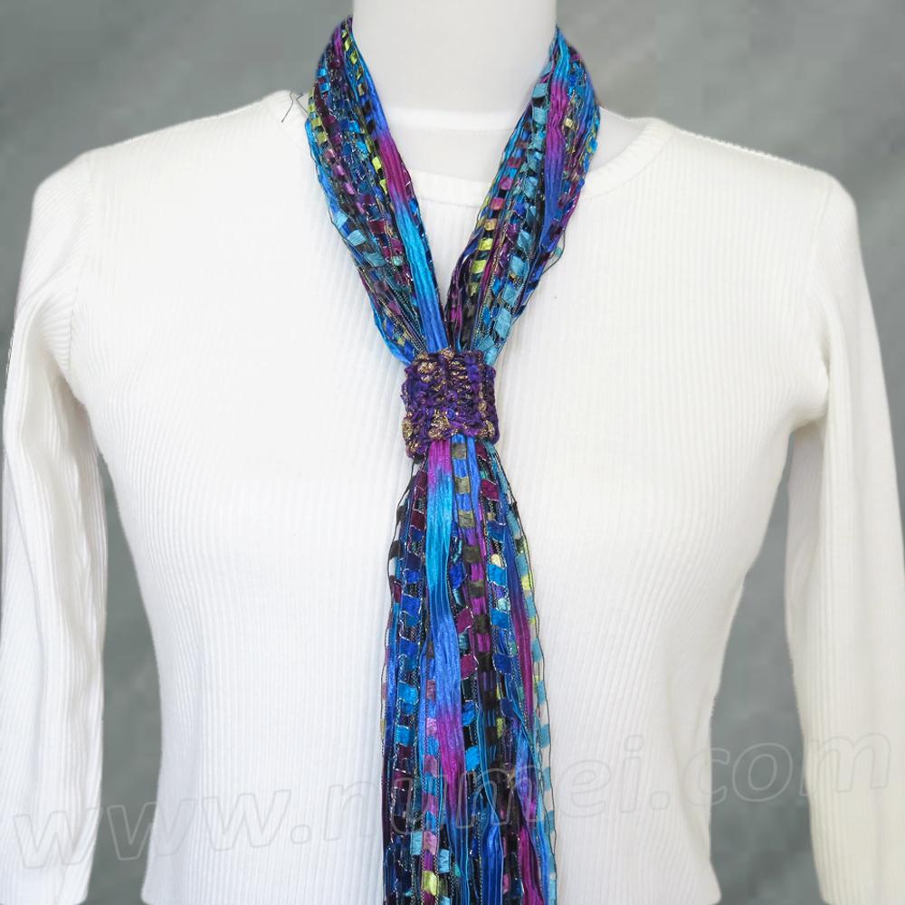 Free Pattern Knit Scarf Slide Necklace Slide