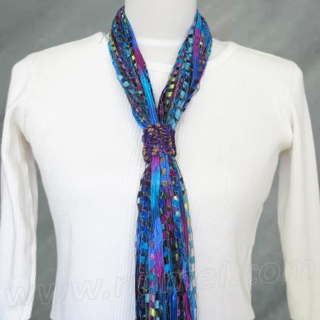 Free Pattern: Knit Ribbon Scarf Slide / Necklace Slide
