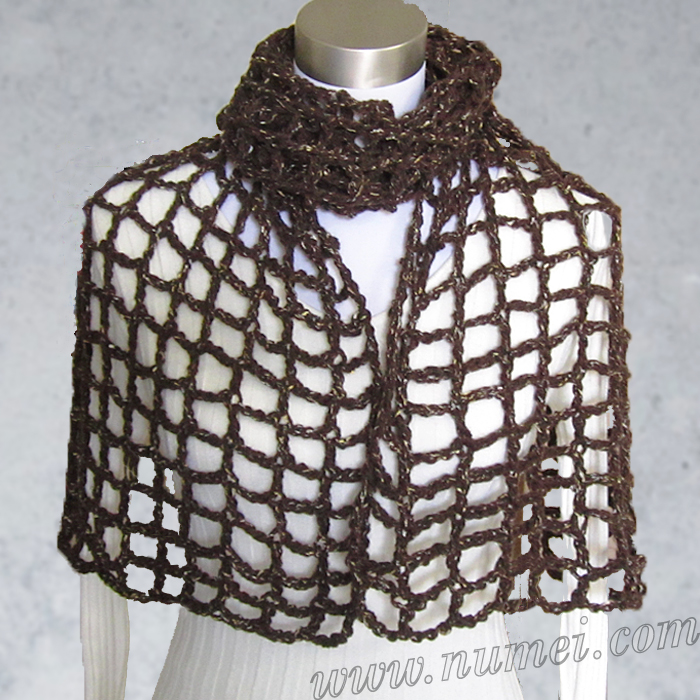 Free Mesh Yarn Crochet Patterns : Free Crochet Pattern: Carine Mesh Shawl