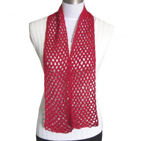 Free Crochet Pattern: Diamond Mesh Scarf (Cotton Spa)