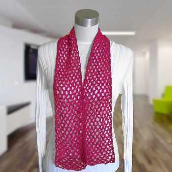 Free Crochet Pattern: Diamond Mesh Scarf (Cotton Spa)
