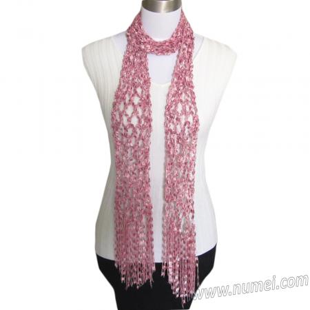 Diamond Mesh Scarf (Ladder Ribbon Maxi)