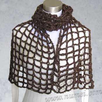 Free Crochet Pattern Carine Mesh Shawl