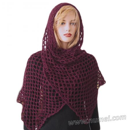 Free Crochet Pattern Fanchon Diamond Mesh Shawl
