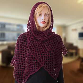 Free Crochet Pattern: Fanchon Diamond Mesh Shawl