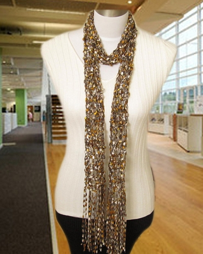 Crochet Scarf Patterns Ribbon Yarn : Free Crochet Pattern: Maxine Scarf
