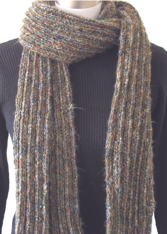 Free Knitting Pattern: Ribbed Scarf