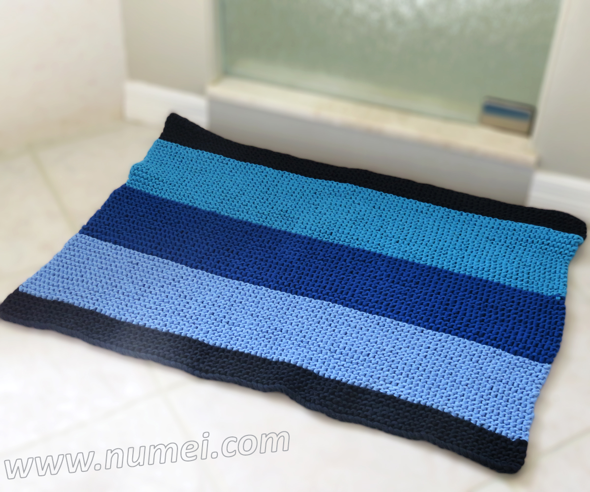 Free Knitting Pattern: Walker Bath Mat/Rug