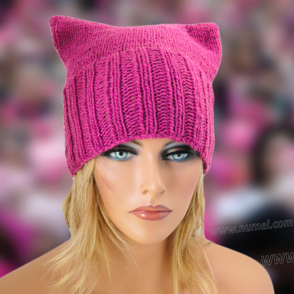 ... new style free knitting pattern cat ears hat pattern 3 dec2f efe4e e3ad64ea945d