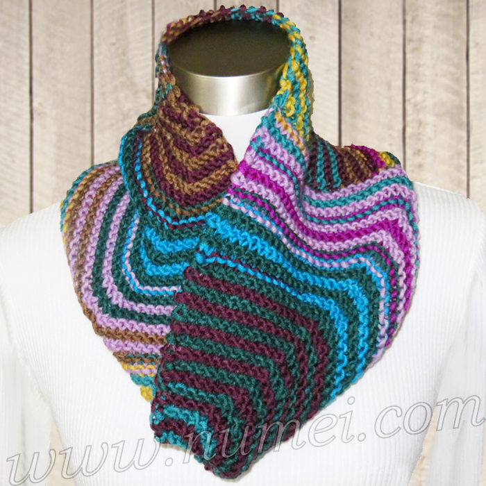Free Knitting Pattern Colleen Mitered Cowl